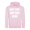 ANY TEXT BABY PINK HOODY