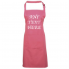 ANY TEXT APRON PINK