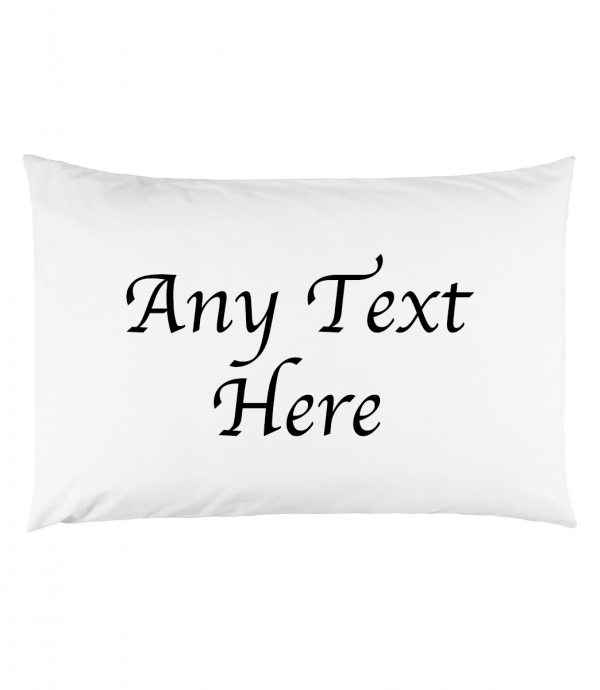 ANY TEXT PILLOW BLACK