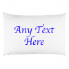 ANY TEXT PILLOW BLUE