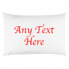 ANY TEXTY PILLOW RED