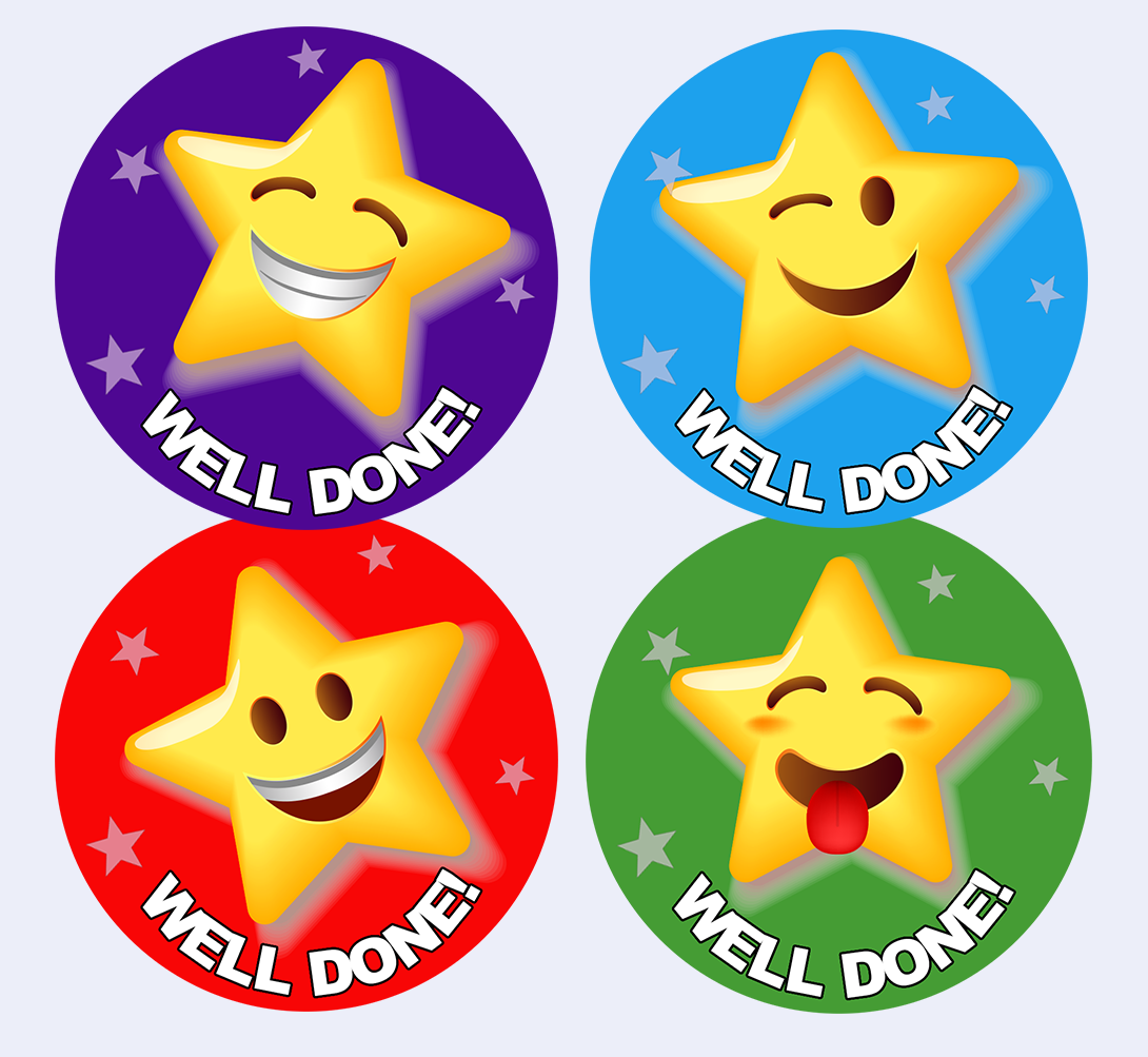 WELL DONE STICKER AD1